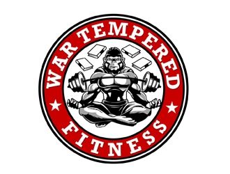 War Tempered Fitness logo design