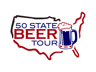 50 State Beer Tour logo design