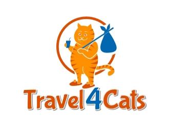 Travel4Cats logo design by aladi