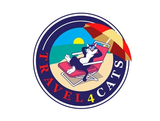 Travel4Cats logo design by LogoInvent