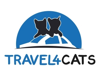 Travel4Cats logo design by ElonStark