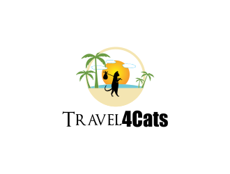 Travel4Cats logo design by giphone