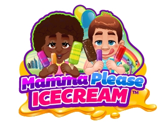 Mamma Please Ice Cream logo design