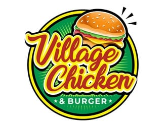 Village Chicken & Burger logo design