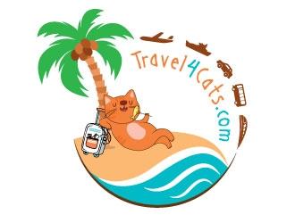 Travel4Cats logo design by alxmihalcea