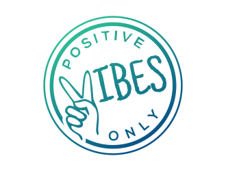 Positive Vibes Only logo design