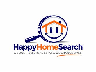 HappyHomeSearch logo design