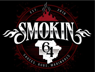 Smokin 64 logo design