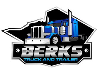 Berks Truck and Trailer logo design