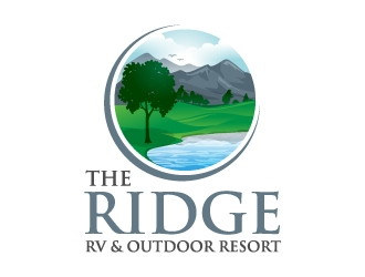 The Ridge RV and Outdoor Resort  logo design