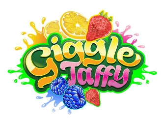 Giggle Taffy logo design
