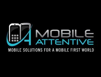 Mobile Attentive logo design