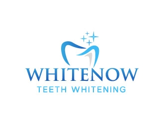 WhiteNow Teeth Whitening  logo design
