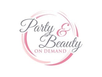 Party and Beauty On Demand logo design