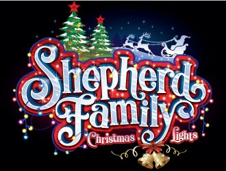 Shepherd Family Christmas Lights logo design