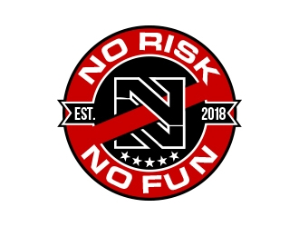 NO RISK NO FUN logo design