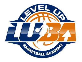 LEVEL UP BASKETBALL ACADEMY logo design
