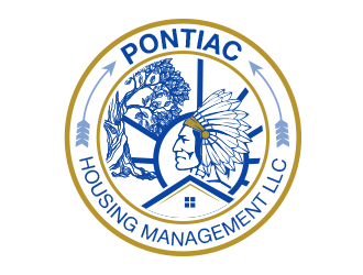 Pontiac Housing Management LLC. logo design