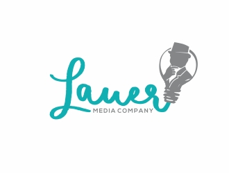 Lauer Media Company logo design