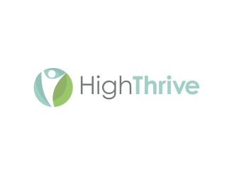 High Thrive logo design