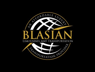 Blasian Limousines and Transportation an Affordable luxury transportation provider logo design