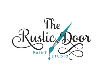 The Rustic Door Paint Studio logo design