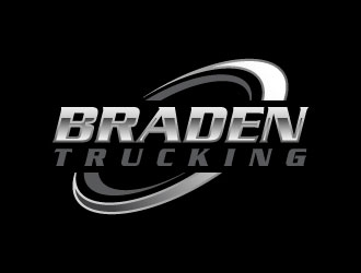 BRADEN TRUCKING  logo design