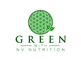 Green With NV Nutrition logo design
