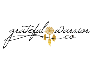 grateful warrior co. logo design