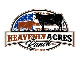 Heavenly Acres Ranch, LLC logo design