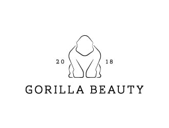 GORILLA BEAUTY logo design