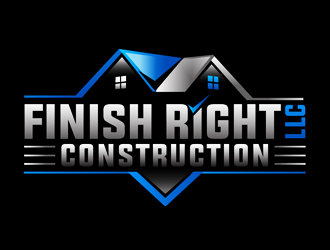 Finish right LLC Construction logo design