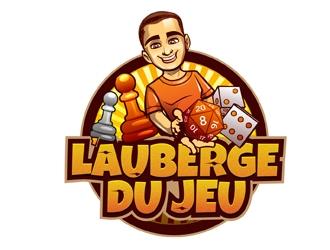 Lauberge du jeu logo design