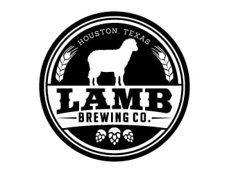 Lamb Brewing Co. logo design