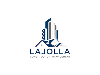 LAJOLLA CONSTRUCTION MANAGEMENT logo design