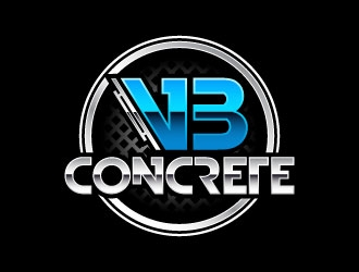VB Concrete logo design