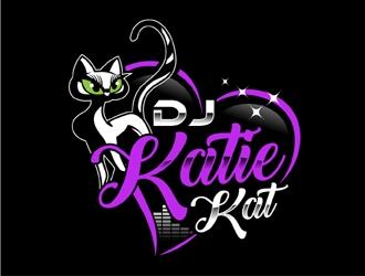 Dj Katie Kat logo design