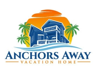 Anchors Away Vacation Home logo design