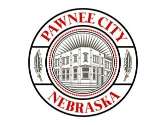 Pawnee City Nebraska logo design