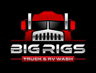 BIG RIGS Truck & RV Wash logo design