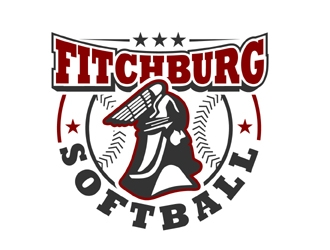 Fitchburg Softball logo design