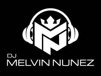 DJ Melvin Nunez logo design