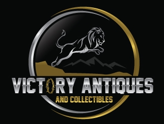 Victory Antiques and Collectibles logo design by Upoops