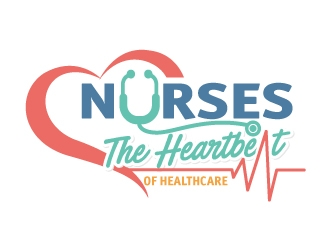 Nurses: The Heartbeat Of Healthcare logo design