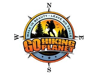 Go Hiking Planet logo design