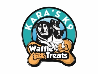 Karas K9 Waffle Treats logo design