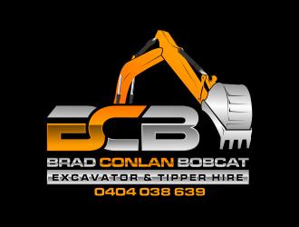 Brad Conlan Bobcat, Excavator & Tipper Hire logo design