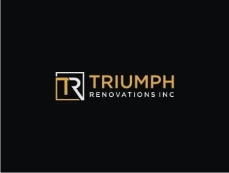 Triumph Renovations Inc. logo design