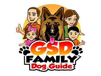 GSD Family Dog Guide logo design