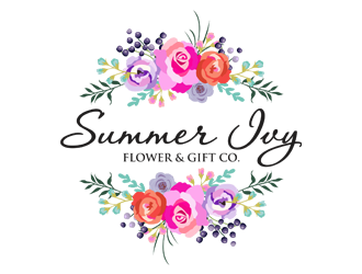 Summer Ivy flower & gift co. logo design